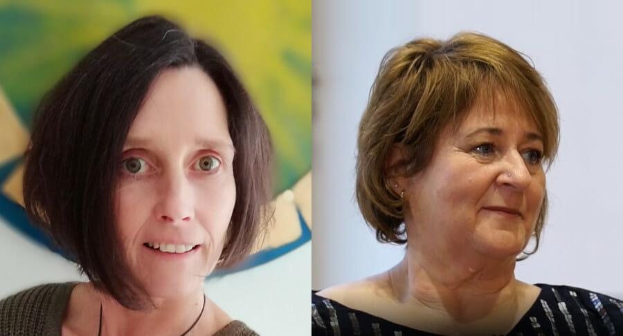 Sandra Anyatee Pfeifer und Uomi Anja Rimbach