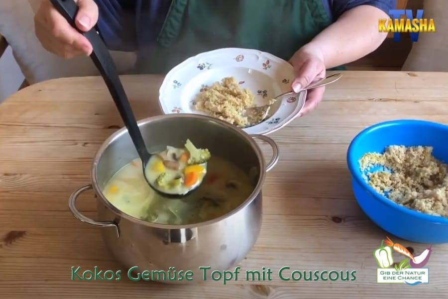 Rezept Kokos Gemüse Topf mit Couscous