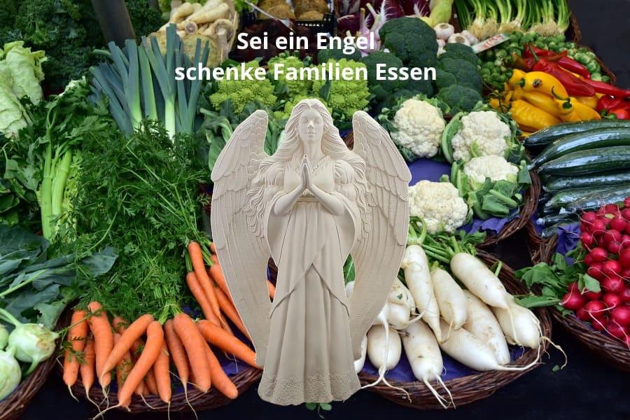 Sei eine Engel, schenke Familien Essen