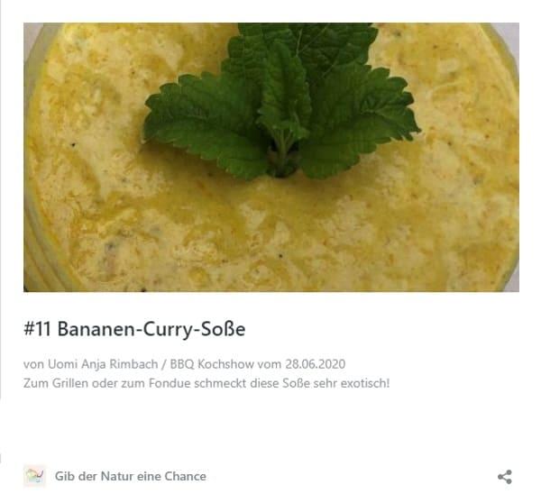 Rezept Bananen Curry Soße