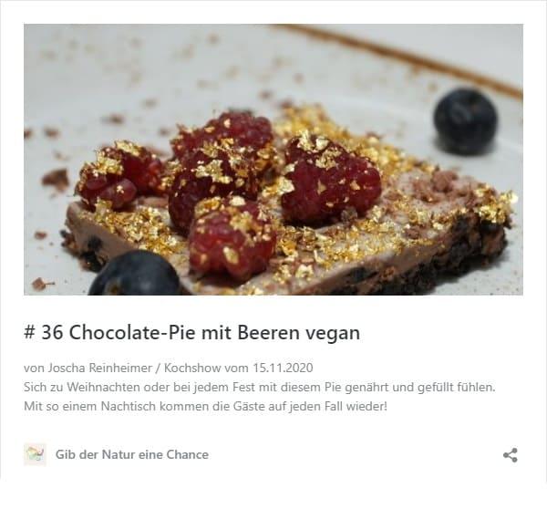 Rezept Chocolate-Pie mit Beeren vegan