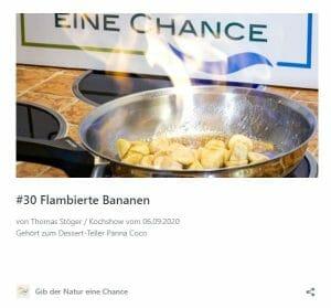 Rezept flambierte Bananen