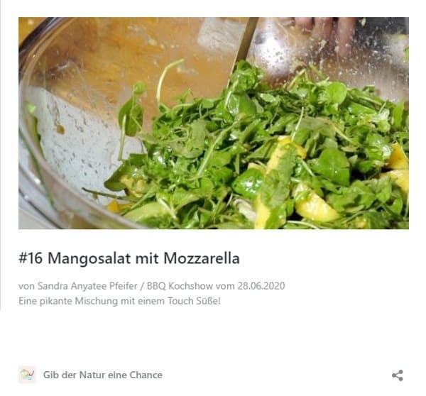 Rezept Mangosalat mit Mozzarella