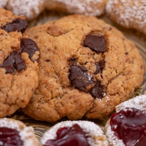 vegane Orangen Schoko Kekse