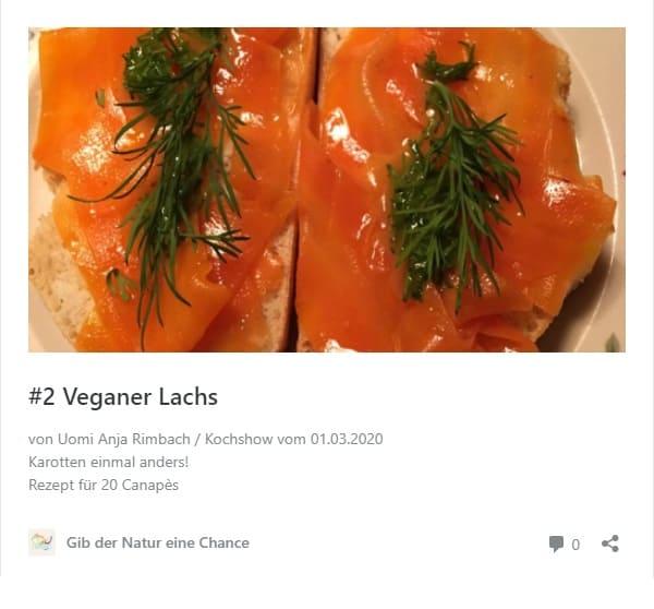 Rezept Veganer Lachs