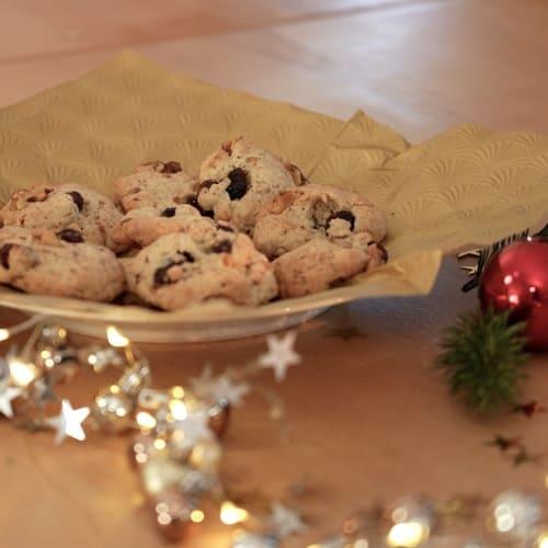 vegane Walnuss-Cranberry Kekse