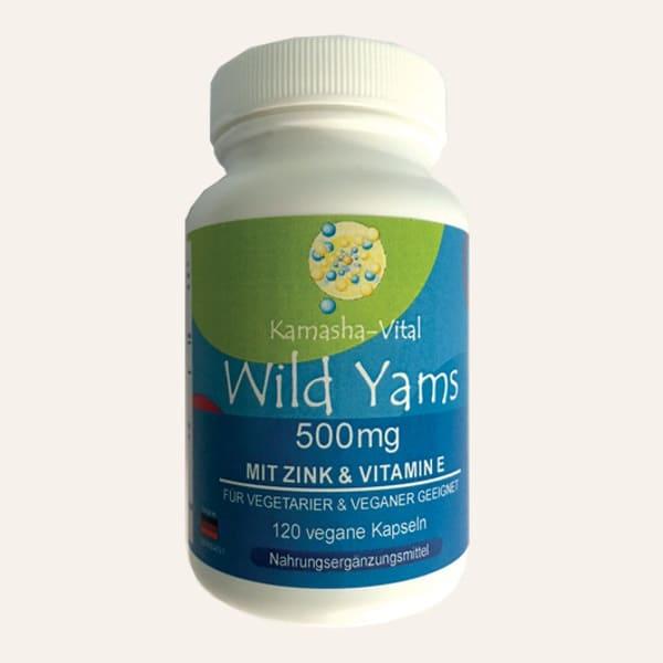 Wild-Yams mit Zink und Vitamin E