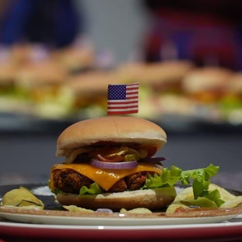 veganer Cheesburger